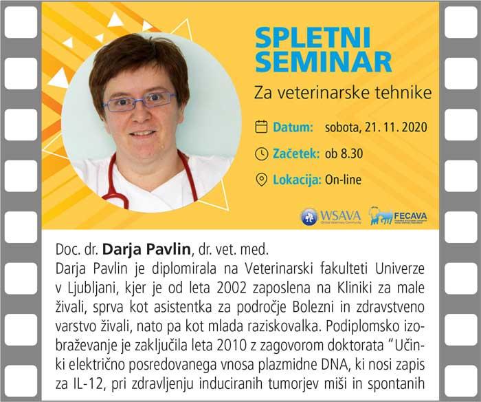 Spletni seminar za veterinarske tehnike SZVMŽ